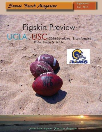 2016 Sunset Beach Magazine  Pigskin Preview
