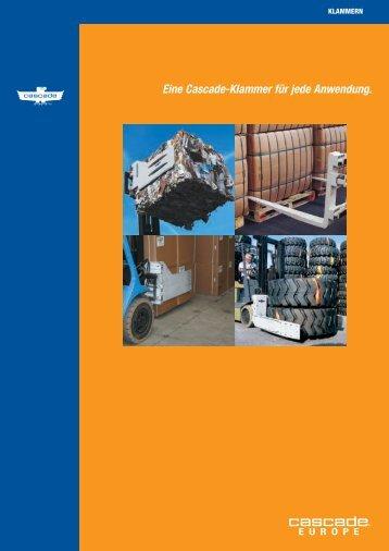 Klammern Broschüre - Cascade Corporation