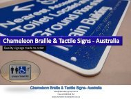 Chameleon Braille & Tactile Signs - Australia