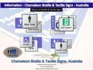 Information - Chameleon Braille & Tactile Signs - Australia