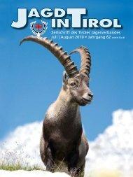 Zeitschrift des Tiroler Jägerverbandes Juli | August 2010 • Jahrgang ...