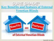 Key Benefits and Features of External Venetian Blinds