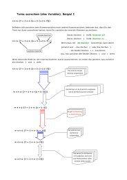 Terme ausrechnen (ohne Variablen), Beispiel I - Mathematik-Werkstatt