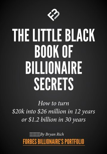 THE LITTLE BLACK BOOK OF BILLIONAIRE SECRETS
