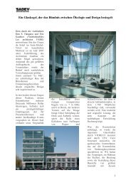 Ein Glaskegel, der das Bündnis zwischen Ökologie und Design ...