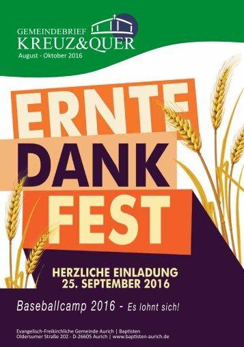 Gemeindebrief August bis Oktober 2016