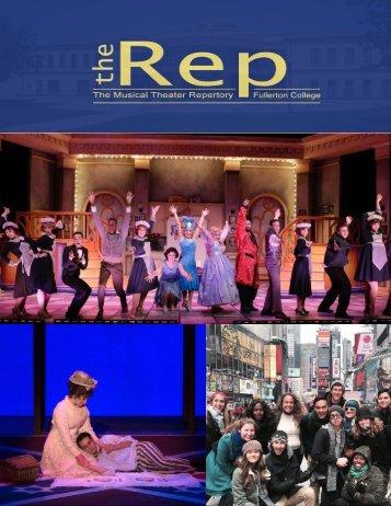 Musical Theatre Repertory at Fullerton College Brochure