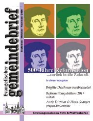 Evang. Kirchengemeinde Roth - Gemeindebrief Sept. bis Nov. 2016