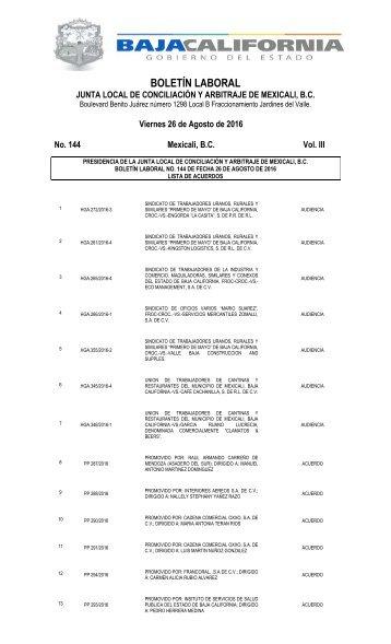 No. 144 26 AGOSTO 16