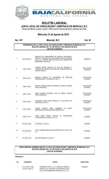 No. 147 31 AGOSTO 16