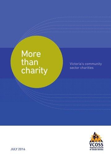 than charity