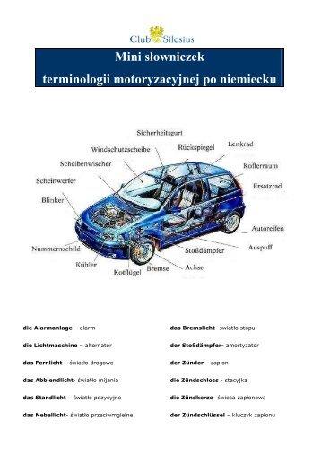 (Czêœci samochodu po niemiecku) - Club Silesius Sp. z oo