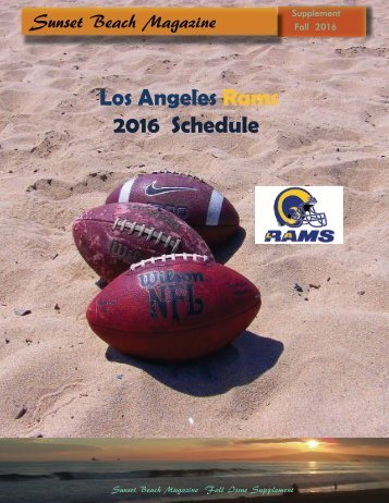 Los Angeles Rams 2016-2017 Schedule