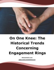 On One Knee The Historical Trends Concerning Engagement Rings
