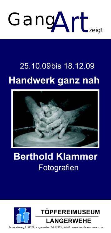 Handwerk ganz nah Berthold Klammer - Töpfereimuseum ...