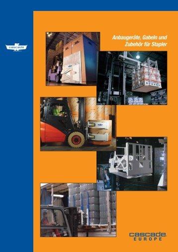 Anbaugeräte, Gabeln und Zubehör für Stapler - Cascade Corporation