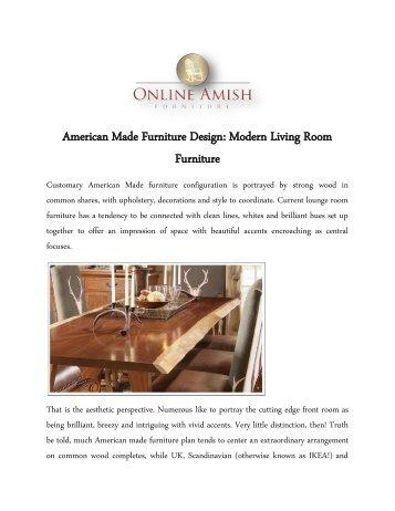 American Made Furniture Design: Modern Living Room Furniture