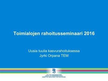 Toimialojen rahoitusseminaari 2016