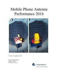 Mobile Phone Antenna Performance 2016