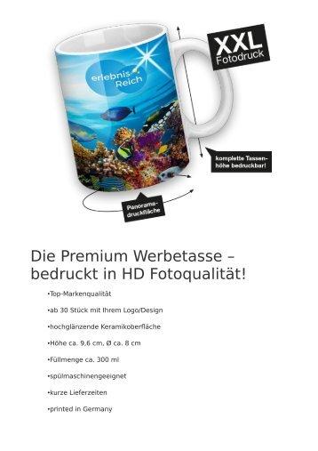 Premium Werbetassen bedruckt in HD Fotoqualität ab 30 Stück