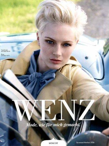 Каталог Wenz осень-зима 2016. Заказ одежды на www.catalogi.ru или по тел. +74955404949