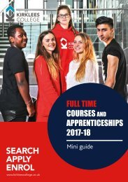 Full time courses and Apprenticeships mini guide 17-18 web