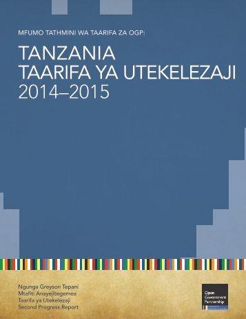 TANZANIA TAARIFA YA UTEKELEZAJI 2014–2015