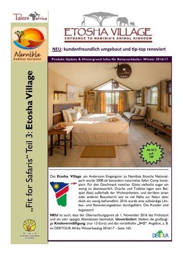 Etosha Village News Sep 2016