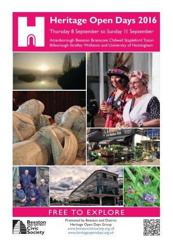 Heritage Open Days 2016