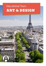 Our most popular Art & Design School Trips