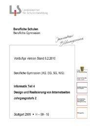 Design und Realisierung von Internetseiten - Landesinstitut für ...