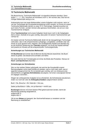 12.1 Werkstoffberechungen.pdf - Mediencommunity.de