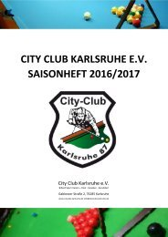 City Club Karlsruhe e.V. Saisonheft 2016/2017
