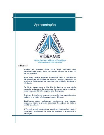 Catalogo Digital Vidramix