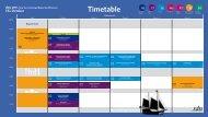 Timetable - Service Design Network