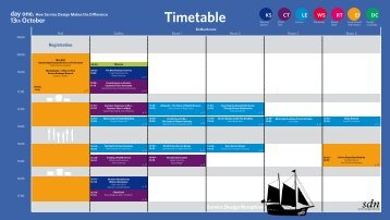 Timetable - Service Design Network