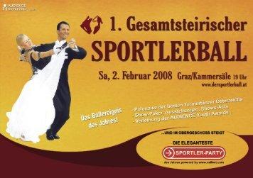 Ballbroschüre des 1. Gesamtsteirischen Sportlerballs 2008