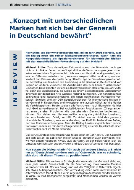 Die Jubiläumsausgabe - 15 Jahre wmd-brokerchannel.de