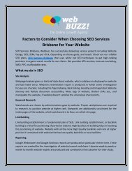 Factors to Consider When Choosing SEO Packages in Brisbane for Your Website