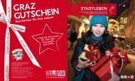 Stadtleben Magazin: 2. Ausgabe 2011 - Graz Tourismus