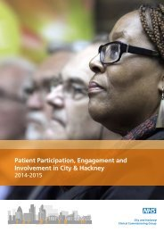 Patient Participation Engagement and Involvement in City & Hackney