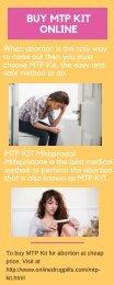 Buy MTP Kit Online to Detach Unwanted Pregnancy