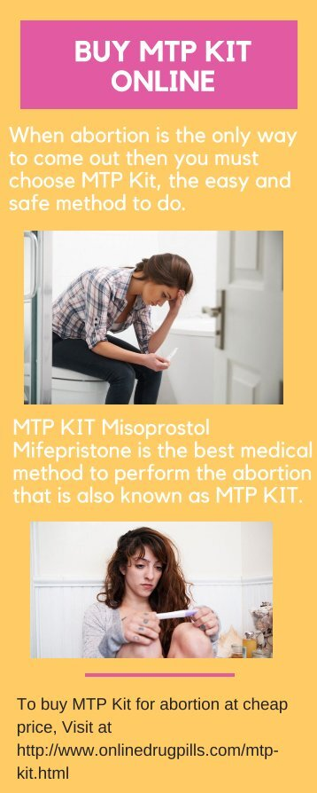 Buy MTP Kit Online to Detach Unwanted Pregnancy