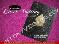 Kartu Undangan Pernikahan Unik Elegan Laser Cutting Jakarta VB CARD