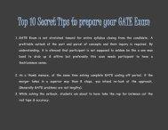 Top 10 Secret Tips to prepare your GATE Exam