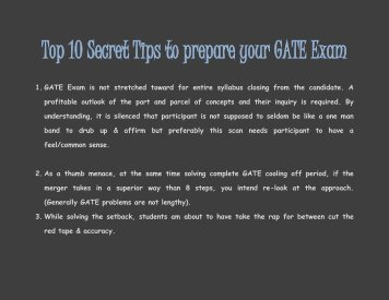 Top 10 Secret Tips to prepare your GATE Exam