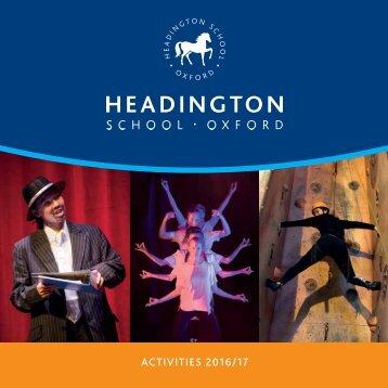 Activities Booklet 16-17