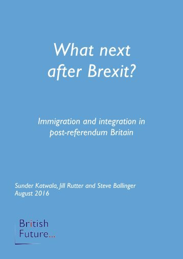 What next after Brexit?