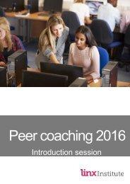 Peer coaching booklet