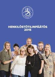 HENKILÖSTÖTILINPÄÄTÖS 2015